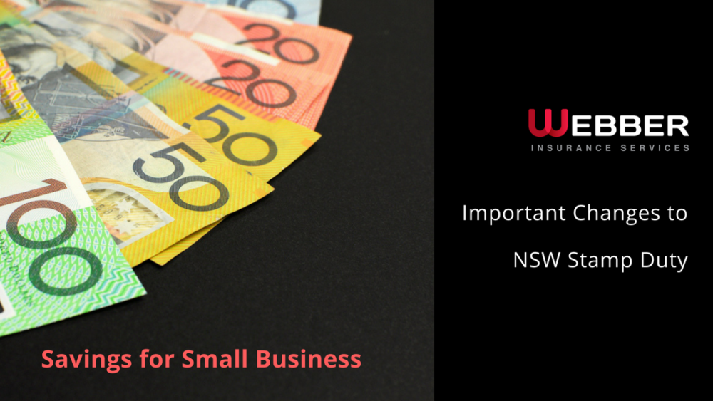 NSW Insurance Stamp Duty Changes | Webber Insurance Services